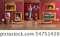 Museum exhibition room cartoon vector illustration 54751439