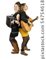 Two girls playing music 54754618