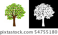 Spring blooming tree isolated vector 54755180