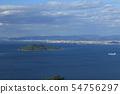 Seto in the evening, the islands of Shishijima and Tadotsu, Marugame and Utatsu in the Shiosai Islands, Seto Ohashi from Goshikidai 54756297
