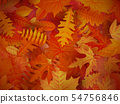Red and orange autumn leaves background. EPS 10 54756846