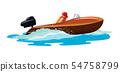 เรือ,เวกเตอร์,ความเร็ว 54758799
