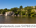 View of the river Ardeche near Ruoms in France 54760150