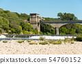 Weir near the village Ruoms in the Ardeche region 54760152
