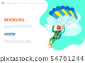 Skydiving Person with Parachute Jumping Website 54761244
