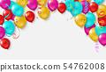 Colorful balloons, confetti concept design templat 54762008