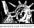 the american Liberty Statue Icon vector Illustration 54762027