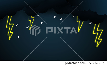 Cloud and rain on blue background 54762253