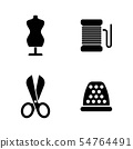Sewing Clothes Equipment. Simple Related Vector 54764491