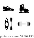 Sport. Simple Related Vector Icons 54764493
