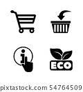 Online Shopping. Simple Related Vector Icons 54764509