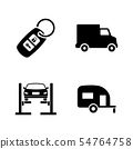 Auto. Simple Related Vector Icons 54764758