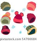 Winter headwear bright pink set 54766684