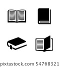 Books. Simple Related Vector Icons 54768321