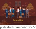 Networking with Business Partners Vector Poster 54769577