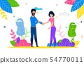 Happy Young Couple in Love Man and Woman on Walk 54770011