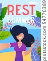Vacation Rest on Tropical Resort Vector Banner 54770389