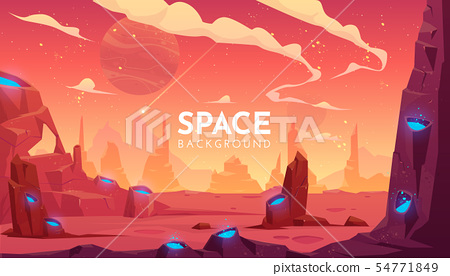Space background, empty alien fantasy landscape 54771849