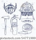 Sketch fireman attributes 54771989