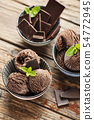 Chocolate ice cream 54772945