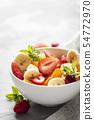 Bowl of healthy fresh fruit salad 54772970