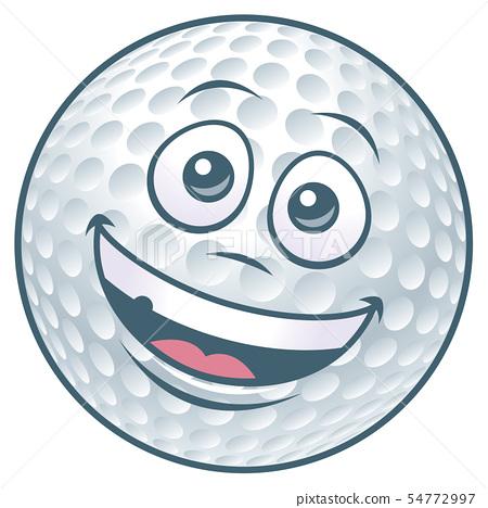 Cartoon Golf Ball Character 54772997