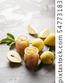 Sweet jam with yellow pears 54773183