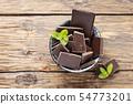 Dark chocolate with mint 54773201