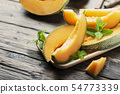 Sweet yellow fresh melon 54773339