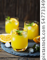 Fresh summer cocktail with orange and mint 54773349