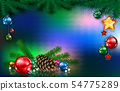 Abstract greeting with gifts and decorations 54775289
