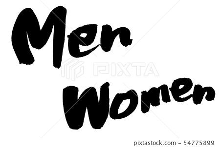 刷字符男人女人插圖 54775899
