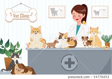 vet clinic concept 54776853