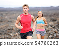 Running sport people running cross country trail 54780263