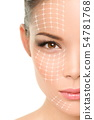 Face lift anti-aging treatment - Asian woman 54781768