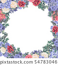 Floral frame for design save the date cards, invitations, posters and birthday decoration 54783046