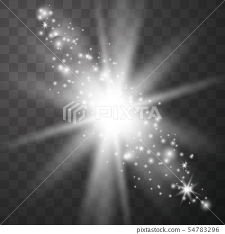 Sparks glitter special light effect.  54783296