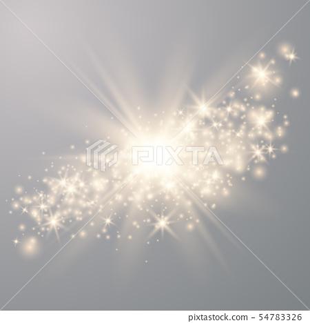 Sparks glitter special light effect.  54783326