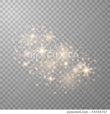 Sparkling magical dust particles.  54784707