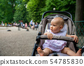 a small child on the playground in a pram 54785830