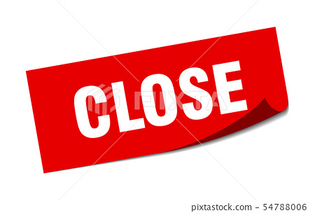 close sticker. close square isolated sign. close 54788006