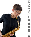Girl with saxophone 54788044