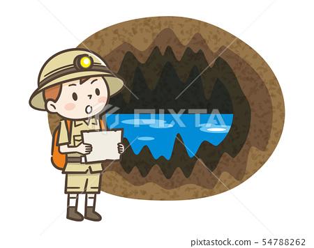 洞穴和冒險家的男孩 54788262