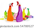 Cleaning product plastic container for house clean 54789527