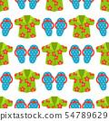 Beachwear cloth fashion looks vacation seamless pattern background sea light beauty clothes 54789629