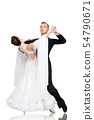 ballrom dance couple in a dance pose isolated on 54790671