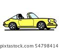 독일 히스 토릭 스포츠 노란색 자동차 일러스트 54798414