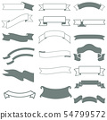 A collection of banners with ribbons in gray and green color. 54799572