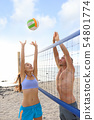 Beach volleyball sport people playing outside 54801774