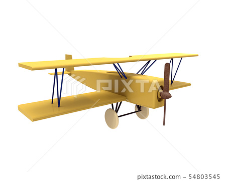 Airplane, colorful wooden toy 54803545